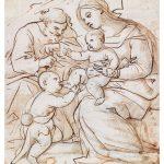 18.5X21.5 sacra famiglia giordano disegno