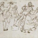 Ercole setti studio di sette figure disegno